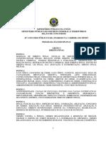 Programa Das Disciplinas - 30 Concurso
