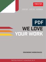 Human Workspace Treston Ergonomic Workspaces Catalogue 2019