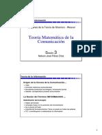 Teoría de la información y comunicación de red