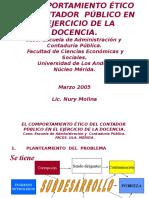 El Comportamiento Etico Del Contador Público en El Ejercicio de La Docencia