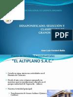 Operaciones para procesamiento Granos Andinos