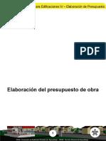 Elaboracion Del Presupuesto de Obra