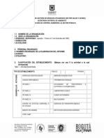 Formato Informe Gestion Residuos Peligrosos