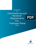 Pr8874 - Commissioning and Handover Specification Treatment Plants