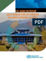 MARCO OPERACIONAL - Sistema de Salud Para Resiliencia Al Cambio Climatico