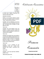 Folleto Primera Comunion 2019