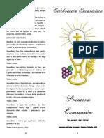 Folleto Primera Comunion 2019