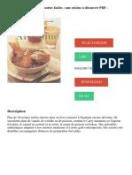 La Cuisine Africaine _ 70 Recettes Faciles _ Une Cuisine à Découvrir PDF - Télécharger, Lire