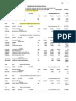 Analisis de Costos Unitarios Resumen