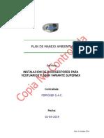 Plan de Manejo Ambiental - Instalacion Biodigestores v2.0