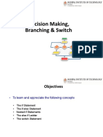 L10-L13-Decision Making, Branching and Looping