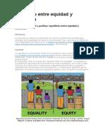Equilibrio Entre Equidad y Eficiencia
