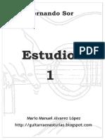 F. Sor. 10 Estudios- 1