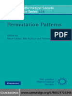 Permutation Patterns, St Andrews 2007.pdf