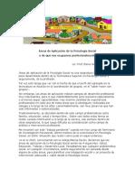 Rozas E Areas de Aplicación de La Psicología Social