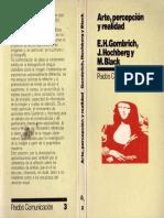GOMBRICH, E.H. - Arte, Percepcion y Realidad