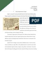 cultural exploration paper