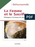 Femme Et Le Sacrifice, La - Anne Dufourmantelle