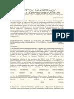 Modelo de Petição Para Internação Compulsória de Dependentes Químicos
