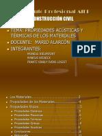 2. Propiedades Termicas y Acusticas de Los Materiales - Moneus