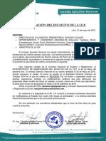 Anteproyecto de Modificacion Estatuto 2019