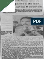 Edgard Romero Nava - Ya Dejamos de Ser Empresarios Llorones - Diario El Siglo 25.11.1989