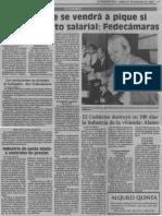 El Paquete Se Vendra a Pique Si Va El Aumento Salarial Fedecamaras - El Nuevo Pais 07.12.1989
