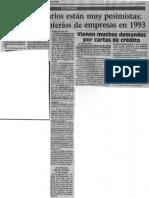 Los Empresarios Estan Muy Pesimistas Preven Cementerios de Empresas en 1993 - El Nuevo Pais 14.12.1989