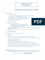 Programa Curso Prevencion Del Riesgo Electrico