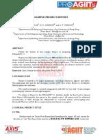 PROAGIIT'15 Project Report Sample Format