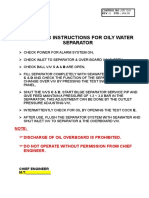 Operating Instructions for OWS