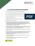 Incinerator Operating Procedure