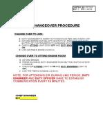 UMS Changeover Procedure