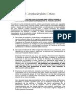 Pronunciamiento Sobre Cuestion de Confianza- Constitucionalismo Critico