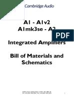 Cambridge Audio a1 a2 Parts List Schematics