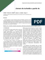 Informe Síntesis de Cloruro de Terbutilo