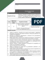 Analista 420-05 Dirección de Infraestructura Tecnológica 3