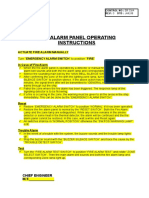 Fire Alarm Panel Operating Instructions