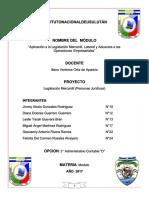 Aplicacion a La Legislacion Mercantil Laboral y Aduanera a Las Operaciones Empresariales
