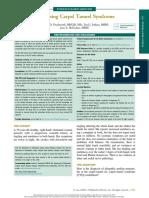 Diagnostico sindrome de tunel carpiano