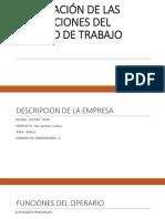 Evaluación de Las Condiciones Del Puesto de Trabajo