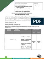 Cronograma de Actividades AIC ISO 9001 25-08-2017