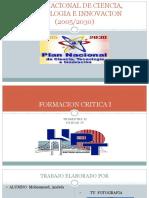 Plan Nacional de Ciencia, Tecnologia e Innovacion