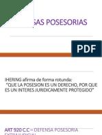 2.DEFENSAS POSESORIAS