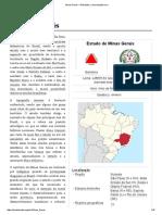 Minas Gerais – Estado brasileiro.