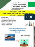 """E. Erikson """"Teoría psicosocial"""""""