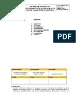 25. PROCEDIMIENTO DE OPERACION DE LA FAJA.doc