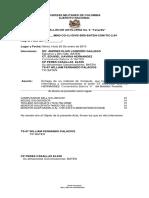 Acta de Entrega de Cargos 2013