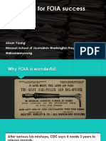 Strategies for FOIA Success