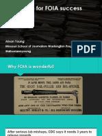 Strategies for FOIA Success